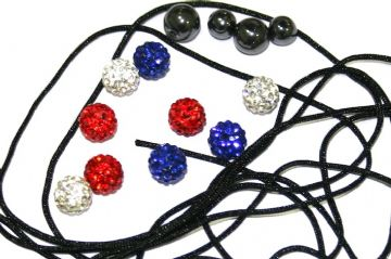 DIY Pave Crystal Bracelet Kit - Red / White / Blue - SC